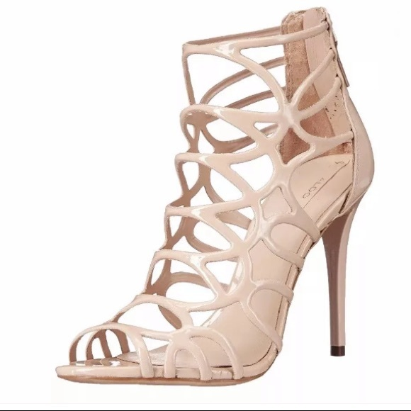 1cce7b45cee1 Aldo Eryde Patent Caged Nude Sandals Pumps 9
